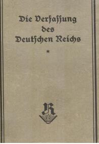 Originalausgabe der Verfassung vom 11. August 1919