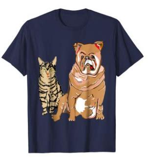 T-Shirt Katze und Hund kaufen