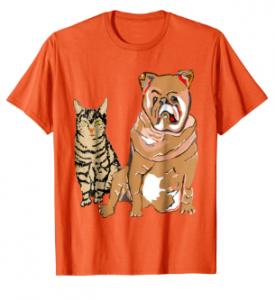 T-Shirt kaufen Kater und Hund
